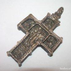 Antigüedades: ANTIGUA CRUZ DE PLATA CON CONTRASTE.... GRABADA EN LAS DOS CARAS.. Lote 131152792