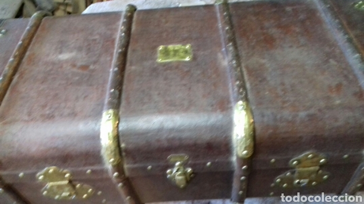 Antigüedades: Maleta baul antiguo - Foto 4 - 131181120