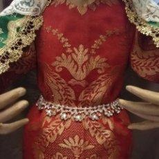 Antigüedades: CINTURILLA FAJIN O GARGANTILLA DE CRISTALES PEDRERIA PARA VIRGEN DE VESTIR VER FOTOS TAMAÑO. Lote 131185368