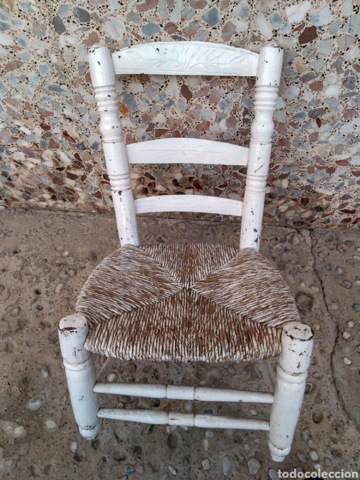 MUY ANTIGUA SILLA DE ANEA DE COSTURA (Antigüedades - Muebles Antiguos - Sillas Antiguas)