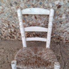 Antigüedades: MUY ANTIGUA SILLA DE ANEA DE COSTURA. Lote 131201737