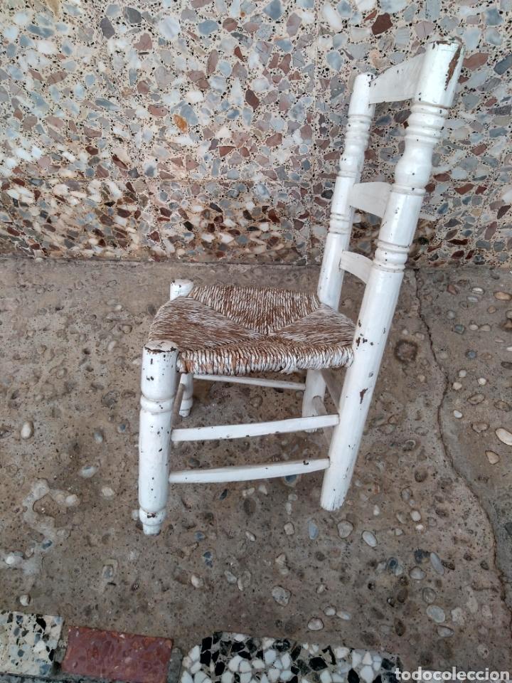 Antigüedades: Muy antigua silla de anea de costura - Foto 2 - 131201737