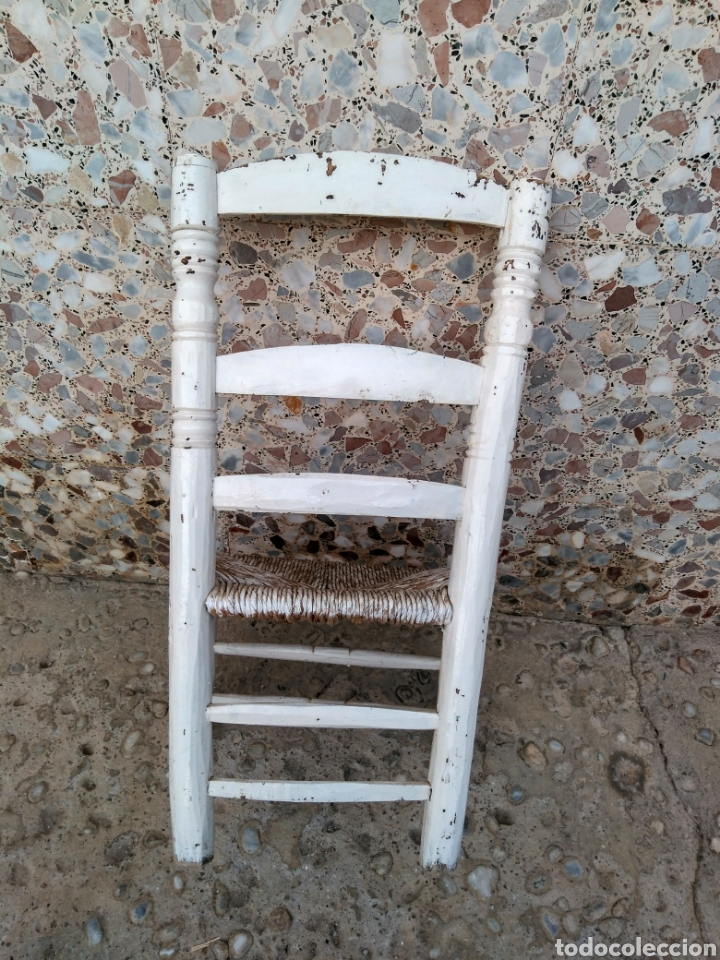 Antigüedades: Muy antigua silla de anea de costura - Foto 3 - 131201737