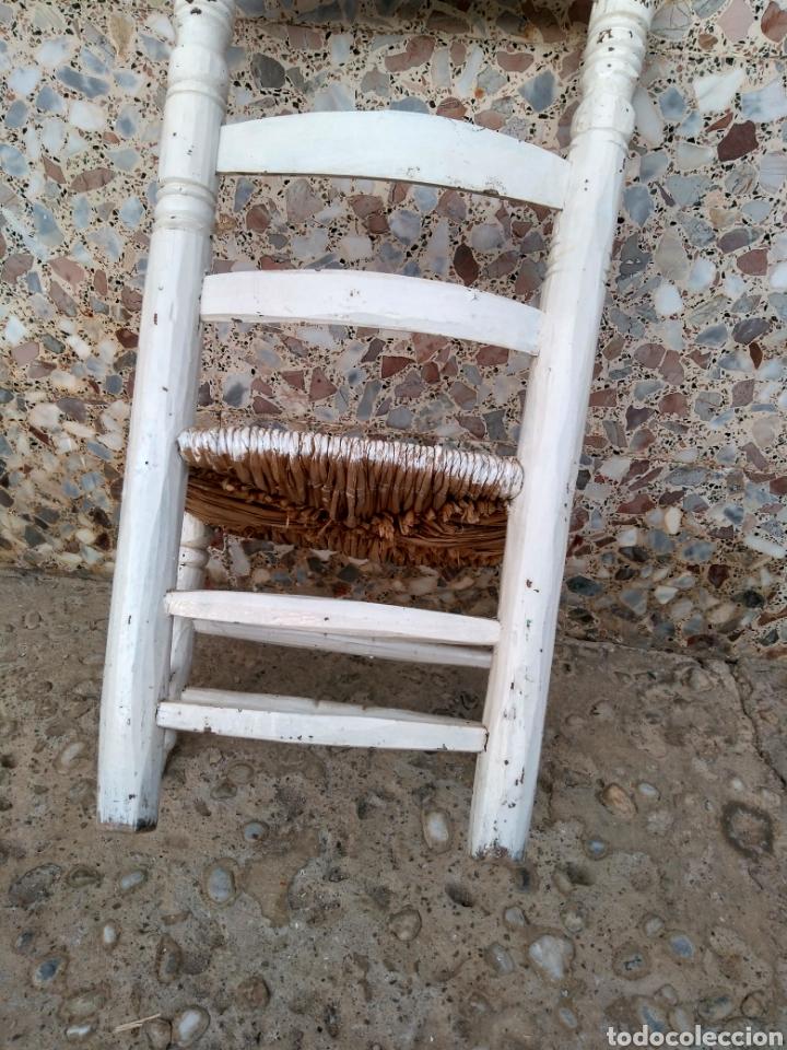 Antigüedades: Muy antigua silla de anea de costura - Foto 4 - 131201737