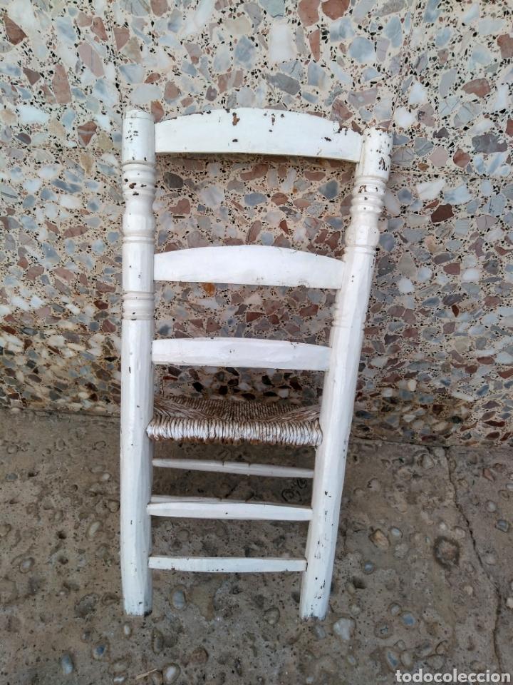 Antigüedades: Muy antigua silla de anea de costura - Foto 5 - 131201737