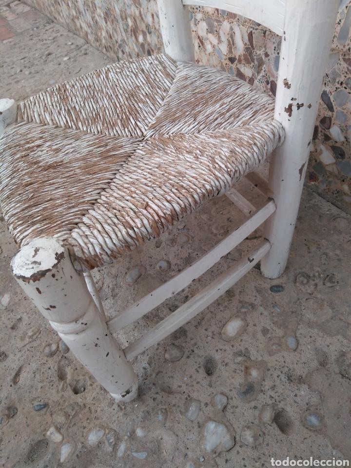Antigüedades: Muy antigua silla de anea de costura - Foto 6 - 131201737
