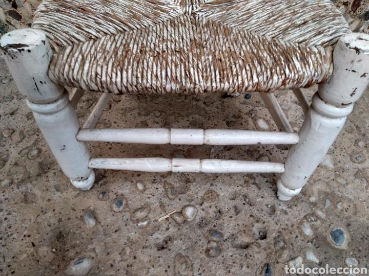 Antigüedades: Muy antigua silla de anea de costura - Foto 9 - 131201737
