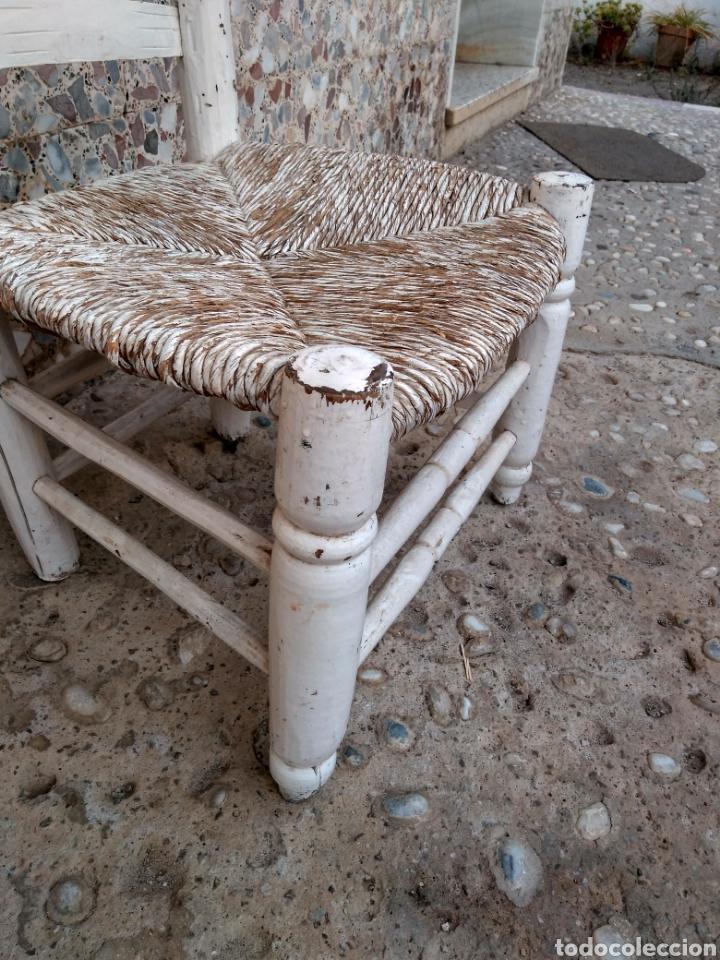 Antigüedades: Muy antigua silla de anea de costura - Foto 10 - 131201737