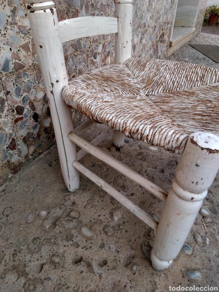 Antigüedades: Muy antigua silla de anea de costura - Foto 11 - 131201737