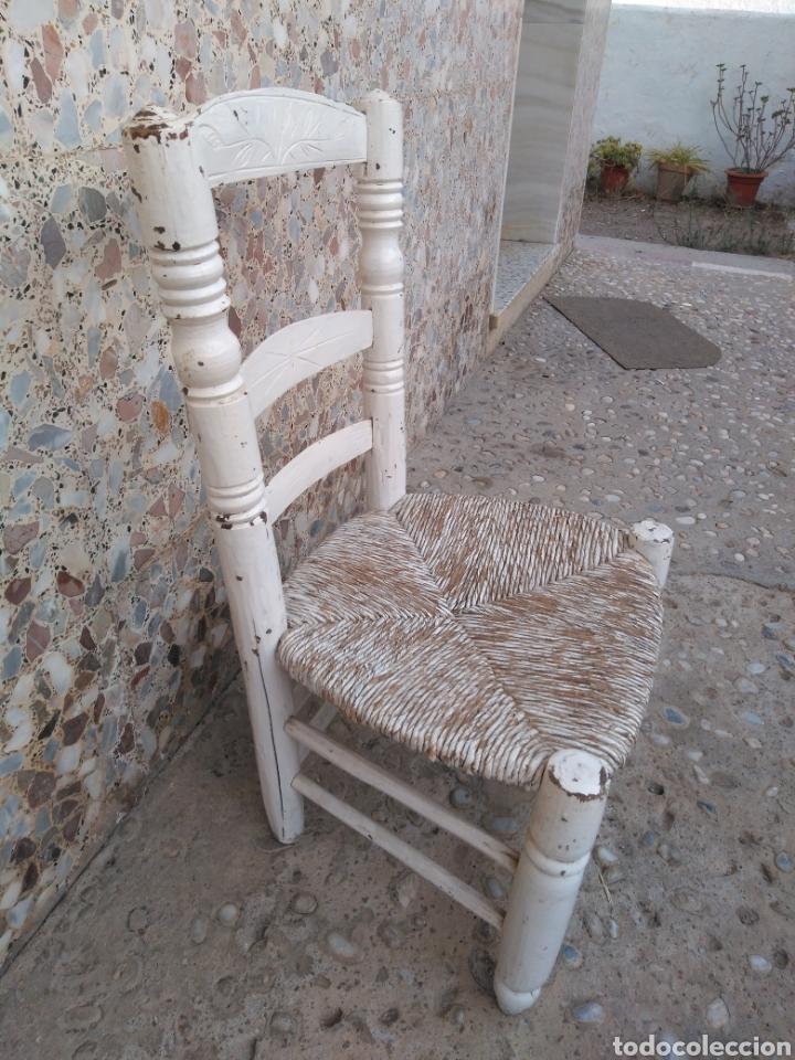 Antigüedades: Muy antigua silla de anea de costura - Foto 14 - 131201737
