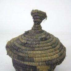 Antigüedades: ANTIGUA CAJA CESTO ORIENTAL. Lote 131203772