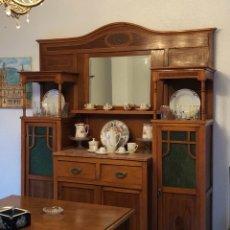 Antigüedades - Aparador salón modernista 1900 Roble (no envío) - 131216591