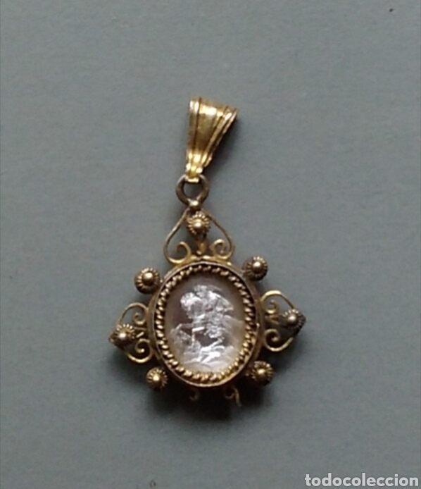Antigüedades: Bonita medalla religiosa antigua Santiago apostol - Foto 2 - 131224662