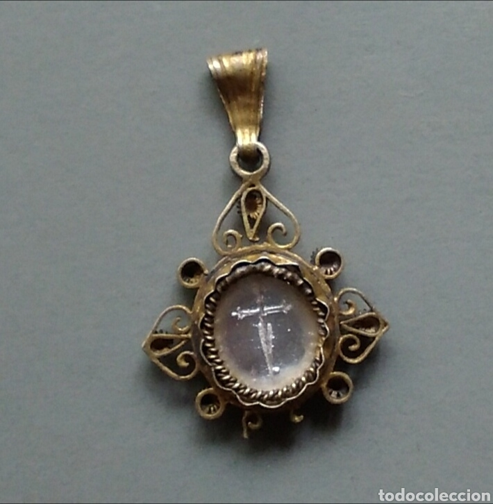 Antigüedades: Bonita medalla religiosa antigua Santiago apostol - Foto 3 - 131224662
