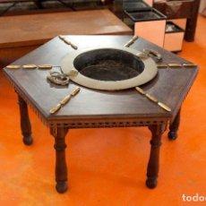 Antigüedades: MESA BRASERO ANTIGUA. Lote 131235323