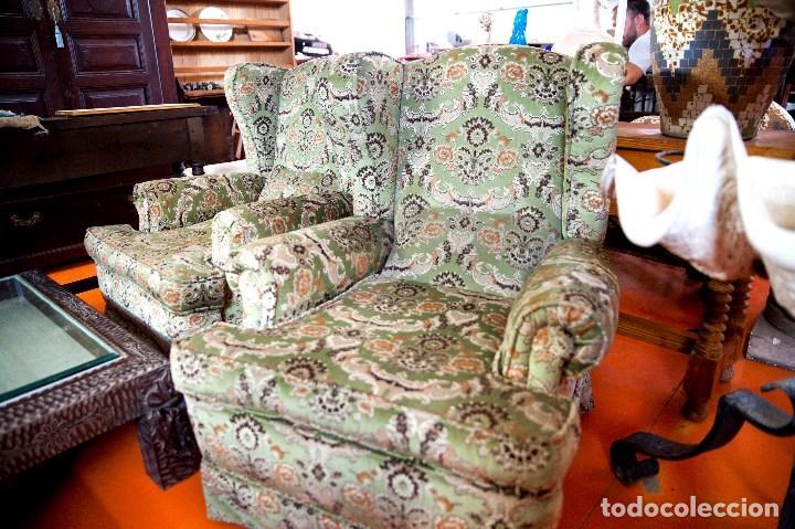 Antigüedades: robusta pareja de sillones antiguos - Foto 4 - 131235771