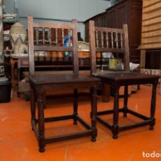 Antigüedades - sillas de madera maciza antigüas - 131237499