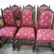 Antigüedades: SILLAS BOLILLO TAPIZADAS. Lote 131244491