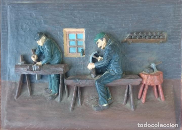 Antigüedades: RESINA DECORADA ENMARCADA - Foto 2 - 131275195