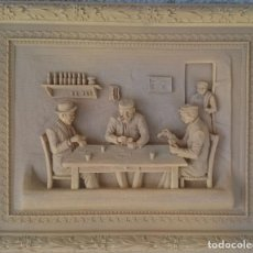 Antigüedades: RESINA SIN DECORAR ENMARCADA. Lote 131276239