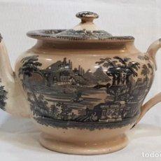 Antigüedades - Antigua cafetera / tetera de Sargadelos antiguo - 131288255