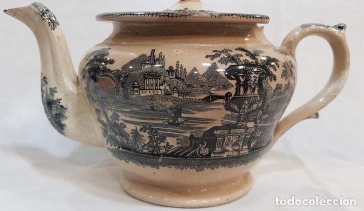 Antigüedades: Antigua cafetera / tetera de Sargadelos antiguo - Foto 3 - 131288255