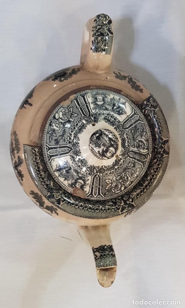 Antigüedades: Antigua cafetera / tetera de Sargadelos antiguo - Foto 7 - 131288255