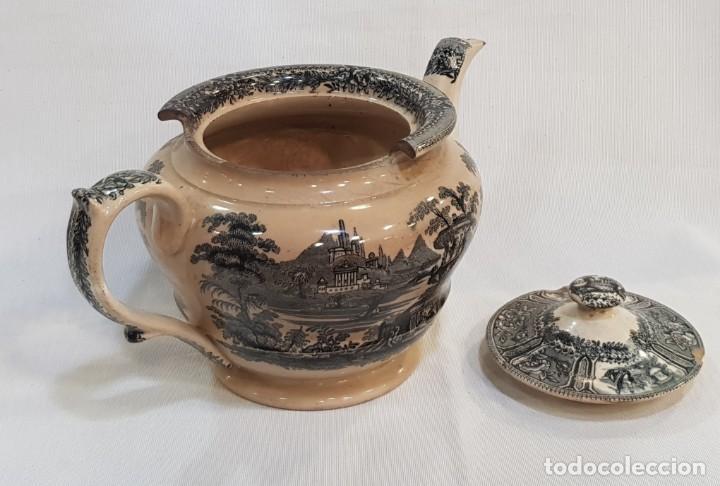 Antigüedades: Antigua cafetera / tetera de Sargadelos antiguo - Foto 8 - 131288255