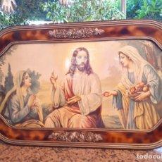 Antigüedades: ANTIGUO MARCO CON LAMINA RELIGIOSA. Lote 131301015