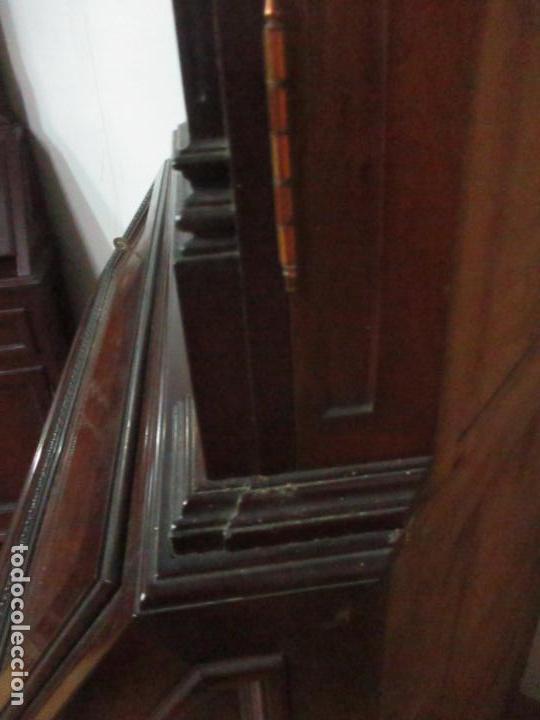 Antigüedades: Pareja de Vitrinas Rinconeras, Escritorio - Madera de Caoba - Espejos Decorados - Principios S. XX - Foto 43 - 131315982
