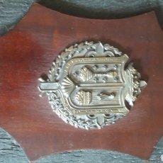 Antigüedades: GALICIA METOPA BRONCE FUNDICIONES FRANCO SANTIAGO COMPOSTELA. Lote 131323993