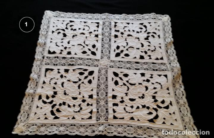 Antigüedades: Dos antiguos manteles bordados - modernistas - Foto 3 - 131324158