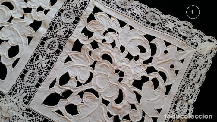 Antigüedades: Dos antiguos manteles bordados - modernistas - Foto 5 - 131324158