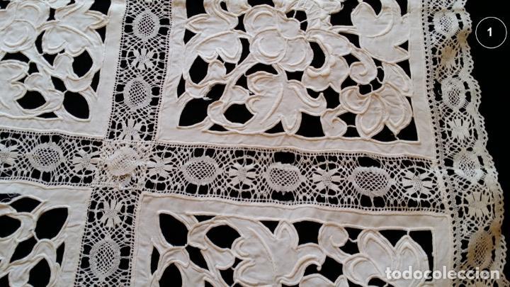 Antigüedades: Dos antiguos manteles bordados - modernistas - Foto 6 - 131324158