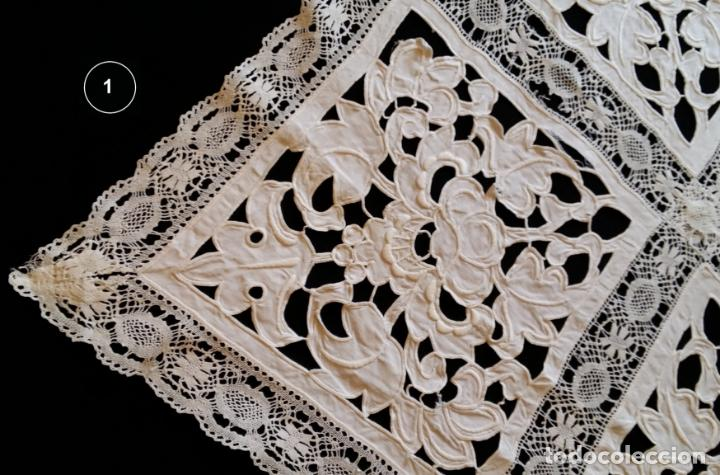 Antigüedades: Dos antiguos manteles bordados - modernistas - Foto 8 - 131324158