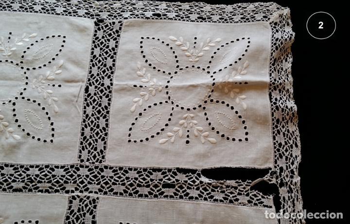 Antigüedades: Dos antiguos manteles bordados - modernistas - Foto 11 - 131324158