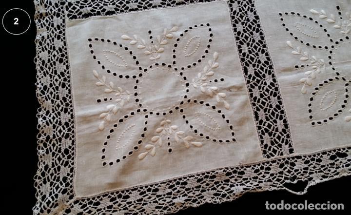 Antigüedades: Dos antiguos manteles bordados - modernistas - Foto 12 - 131324158