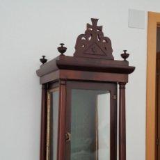 Antigüedades: HORNACINA CAPILLA CAOBA S.XIX. Lote 131327406