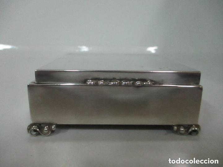 Antigüedades: Caja joyero plata de ley - Foto 2 - 131330290