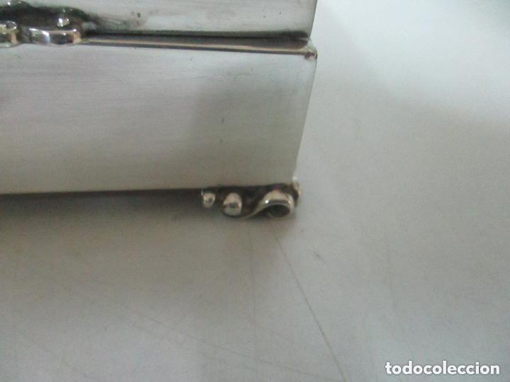 Antigüedades: Caja joyero plata de ley - Foto 3 - 131330290