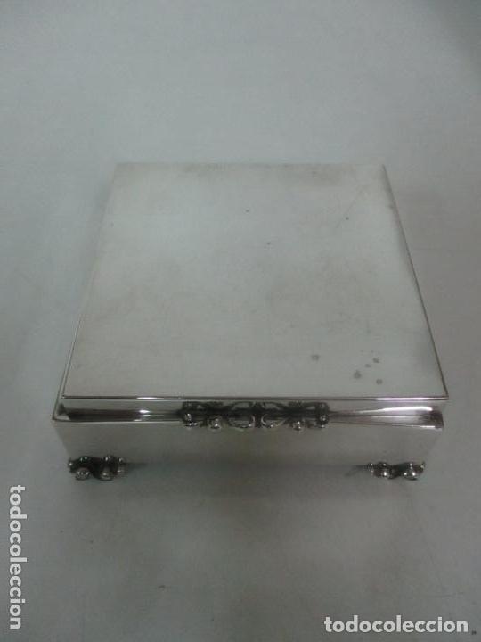 Antigüedades: Caja joyero plata de ley - Foto 4 - 131330290
