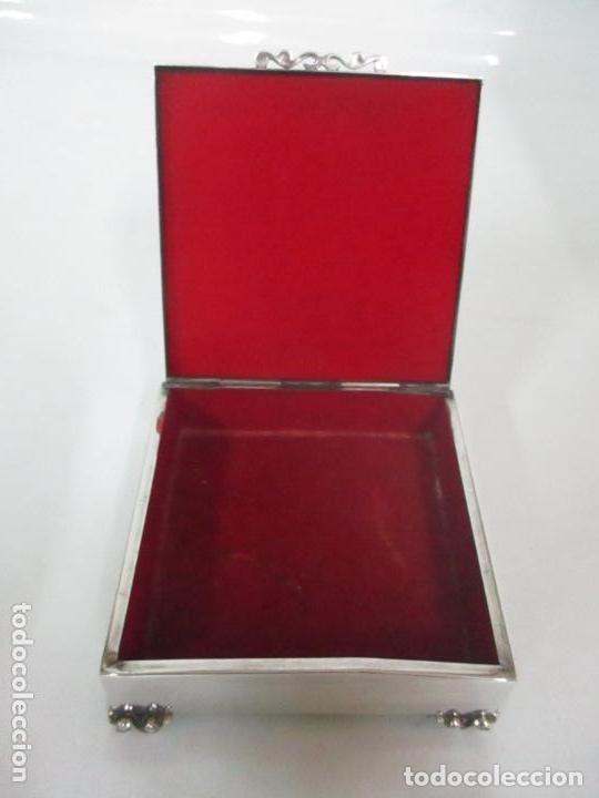 Antigüedades: Caja joyero plata de ley - Foto 6 - 131330290
