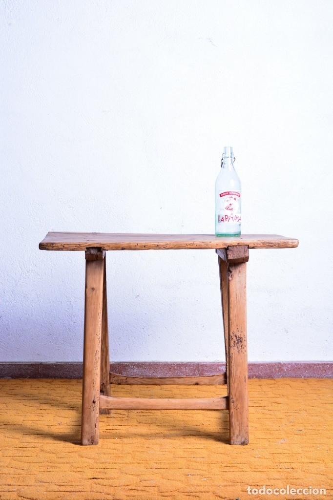 Antigüedades: Mesa tocinera de madera - Antigua mesa matancera - Estilo rústico, casa pueblo, rural - Foto 4 - 45696974