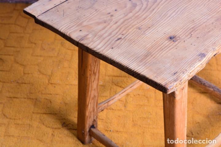 Antigüedades: Mesa tocinera de madera - Antigua mesa matancera - Estilo rústico, casa pueblo, rural - Foto 5 - 45696974