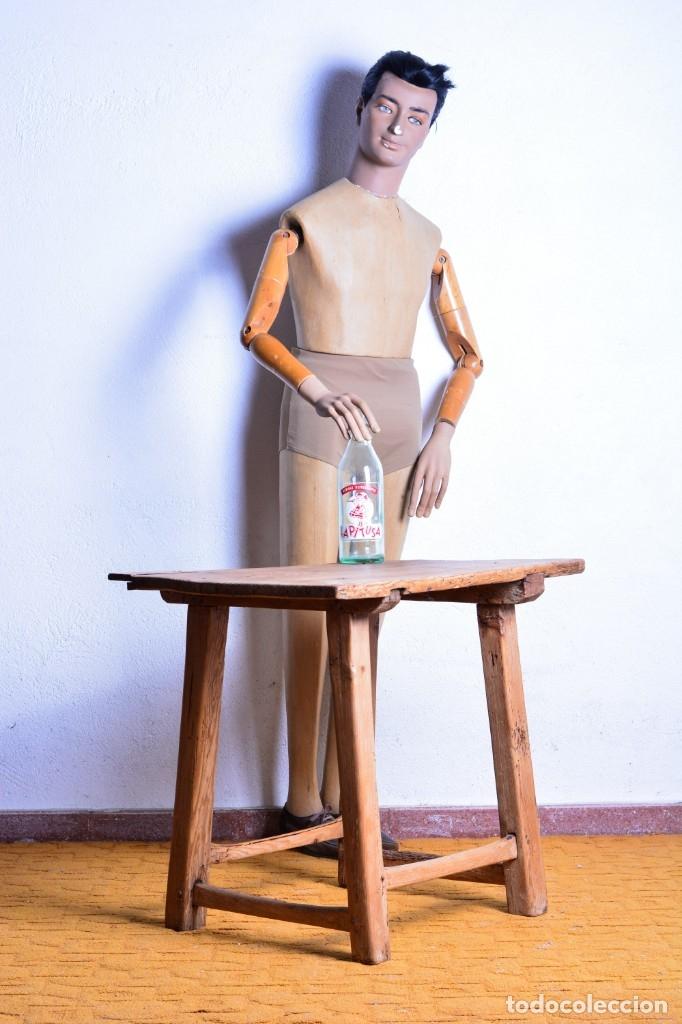 MESA TOCINERA DE MADERA - ANTIGUA MESA MATANCERA - ESTILO RÚSTICO, CASA PUEBLO, RURAL (Antigüedades - Muebles Antiguos - Mesas Antiguas)