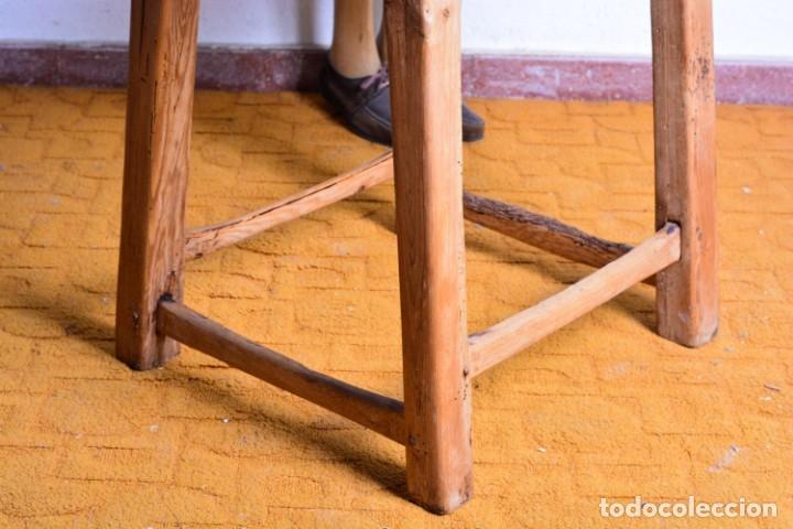Antigüedades: Mesa tocinera de madera - Antigua mesa matancera - Estilo rústico, casa pueblo, rural - Foto 6 - 45696974