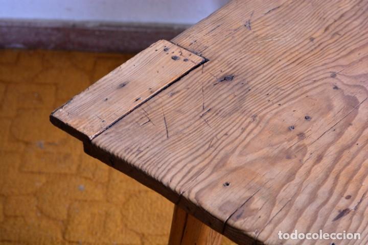 Antigüedades: Mesa tocinera de madera - Antigua mesa matancera - Estilo rústico, casa pueblo, rural - Foto 8 - 45696974