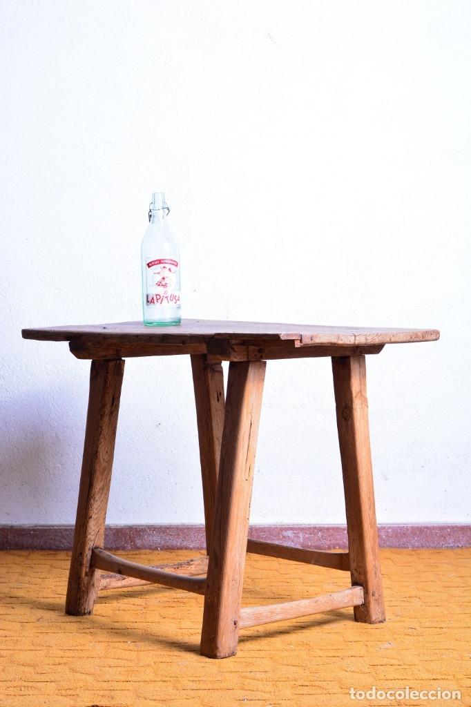 Antigüedades: Mesa tocinera de madera - Antigua mesa matancera - Estilo rústico, casa pueblo, rural - Foto 9 - 45696974