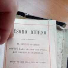 Antigüedades: 1892 - TESORO DIURNO - (EJERCICIO COTIDIANO - METODO PARA RECIBIR SANTOS SACRAMENTOS - ORI MISA). Lote 131350270
