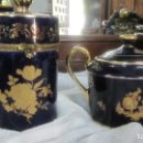 Antigüedades: 2 PRECIOSA PIEZAS EN PORCELANA DE LIMOGES . Lote 131351310